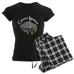 Green Iguana Women's Dark Pajamas