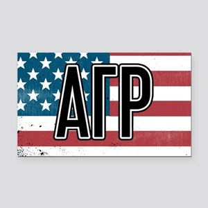 Alpha Gamma Rho Flag Rectangle Car Magnet