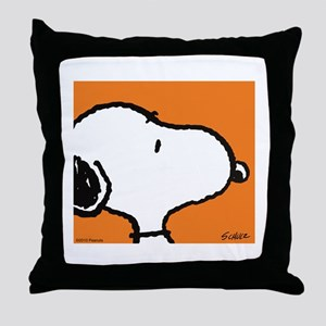 Fresh Orange Snoopy Throw Pillow