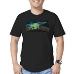 Wishing Frog II Men's Fitted T-Shirt (dark)