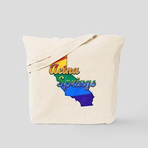 Aetna Springs, California. Gay Pride Tote Bag