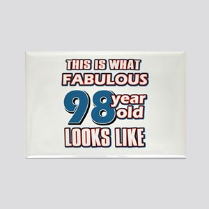 Cool 98 year old birthday designs Rectangle Magnet