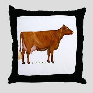 Shorthorn Trans Throw Pillow