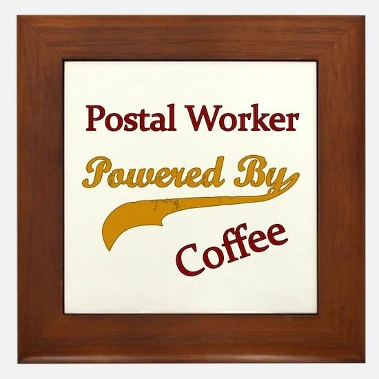 Cute Post office worker Framed Tile
