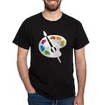 Art Shirt - 'Art Palette' Black T-Shirt