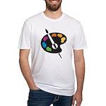 Art Shirt - 'Art Palette' Fitted T-Shirt
