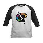 Art Shirt - 'Art Palette' Kids Baseball Jersey