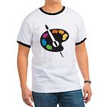 Art Shirt - 'Art Palette' Ringer T