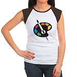 Art Shirt - 'Art Palette' Women's Cap Sleeve T-Shi