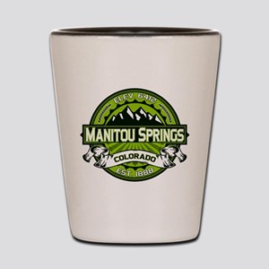 Manitou Springs Green Shot Glass