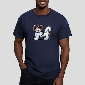 Biewer Yorkie Girl Men's Fitted T-Shirt (dark)