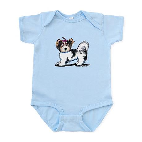 Biewer Yorkie Girl Infant Bodysuit