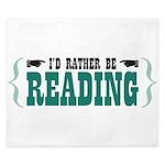 I'd Rather be Reading King Duvet