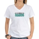 I'd Rather be Reading Women's V-Neck T-Shirt