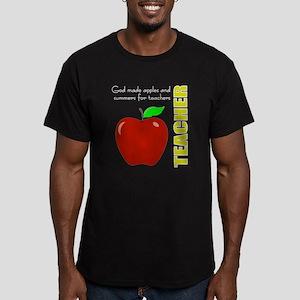 Teachers, summers, apples Men's Fitted T-Shirt (da