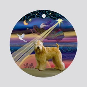 Christmas Star & Wheaten Ornament (Round)