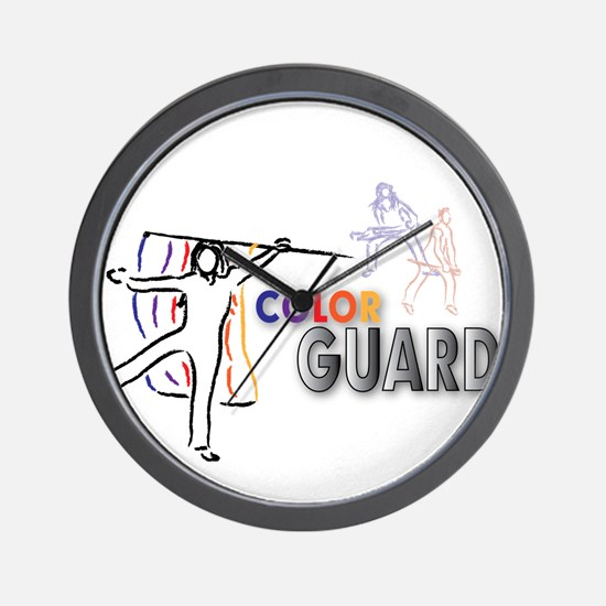 Funny Color guard flags Wall Clock