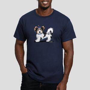 Biewer Yorkie Boy Men's Fitted T-Shirt (dark)