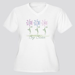 flowers big sister Plus Size T-Shirt