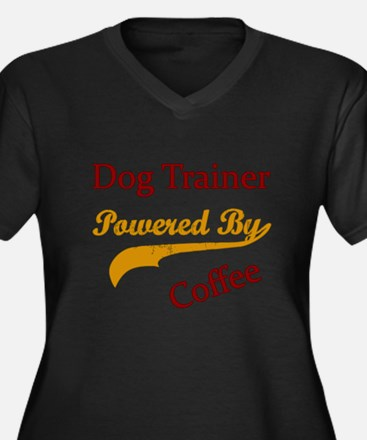 Unique Dog trainer Women's Plus Size V-Neck Dark T-Shirt