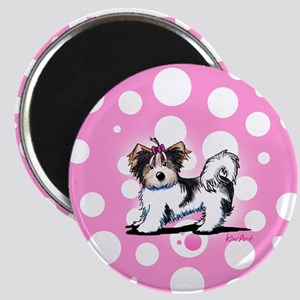 Biewer Yorkie on Pink Magnet