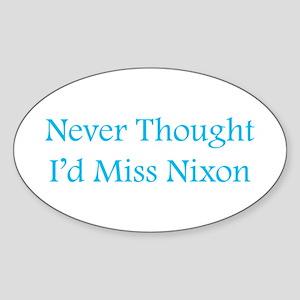 Miss Nixon Oval Sticker
