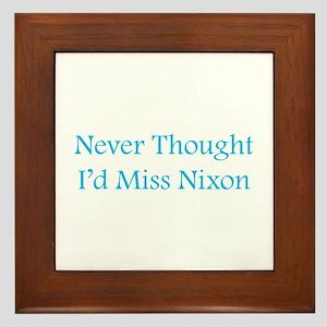 Miss Nixon Framed Tile