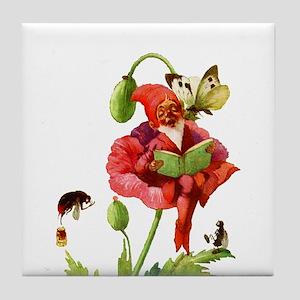 Poppy Gnome Tile Coaster