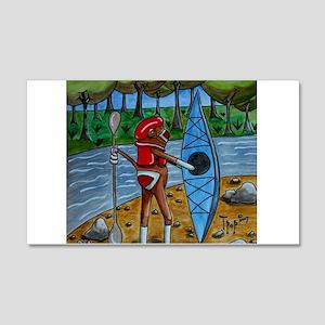 Kayak Sock Monkey 22x14 Wall Peel