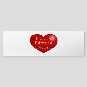 I Love Edward Cullen Sticker (Bumper)