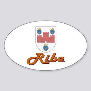 Ribe Oval Sticker