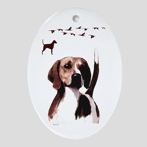 hound Ornament (Oval)