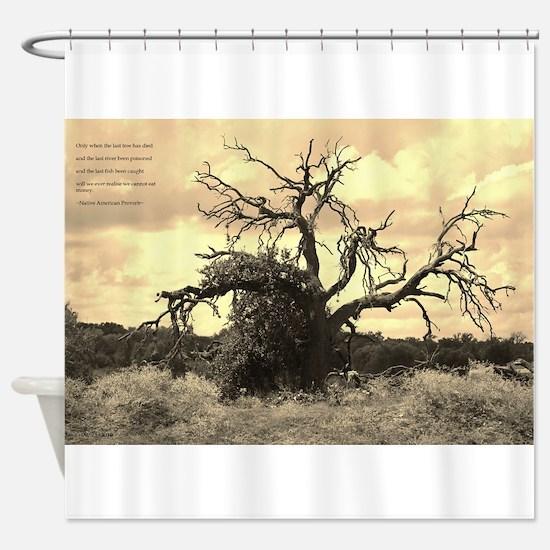 Texas Tree Shower Curtain