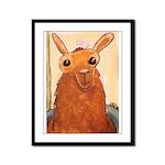Bath Time Llama Framed Panel Print