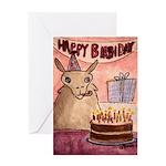 Llama Birthday Greeting Card