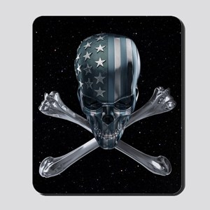 Spacey American Skull Mousepad