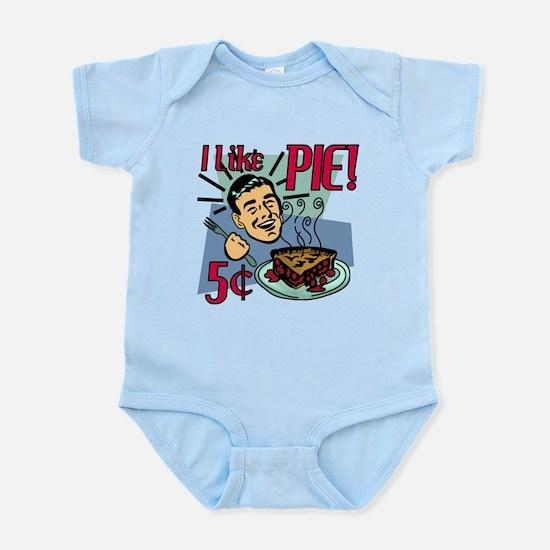 I Like Pie! 50's Retro Diner Infant Bodysuit