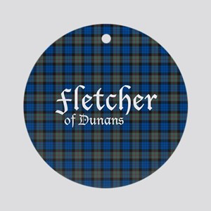 Tartan - Fletcher of Dunans Ornament (Round)
