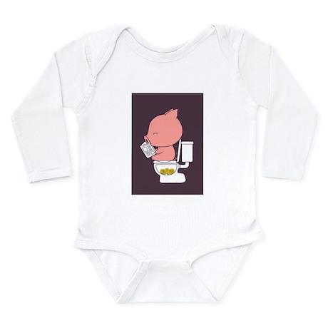 Piggy Bank Long Sleeve Infant Bodysuit