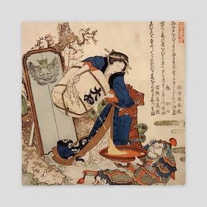 Hokusai Strong Oi Pouring Sake Queen Duvet