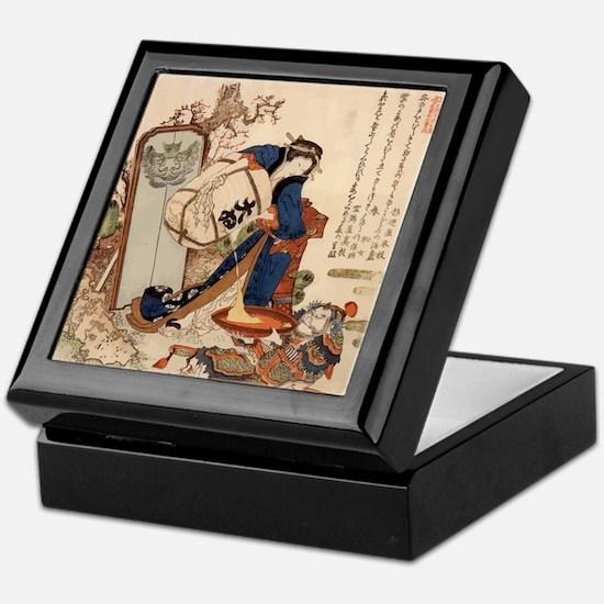 Hokusai Strong Oi Pouring Sake Keepsake Box