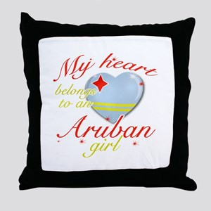 Aruban Valentine's designs Throw Pillow