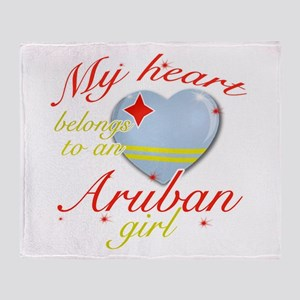 Aruban Valentine's designs Throw Blanket