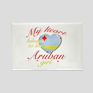 Aruban Valentine's designs Rectangle Magnet