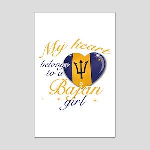 Bajan Valentine's designs Mini Poster Print