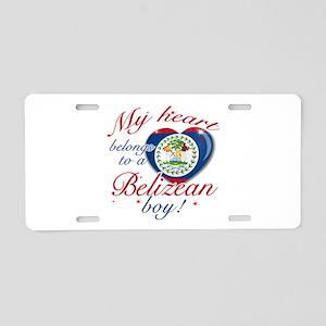 Belizean Valentine's designs Aluminum License Plat