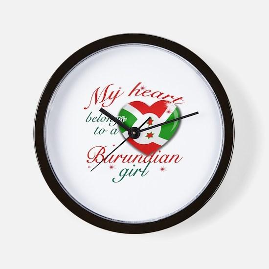 Burundian Valentine's designs Wall Clock