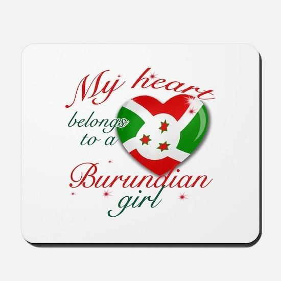 Burundian Valentine's designs Mousepad