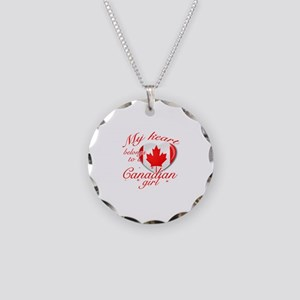 Canadian Valentine's designs Necklace Circle Charm