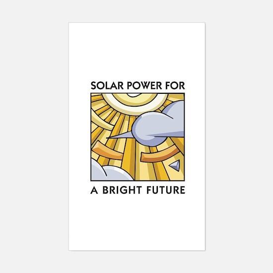 Solar Power for a Bright Future Sticker (Rectangul